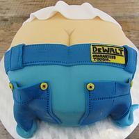 Builder's Bum Cake.