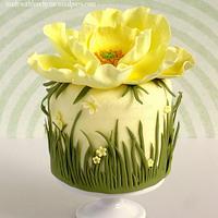 Yellow Poppy Cake by Pamela McCaffrey