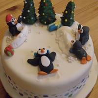 playfull penguins