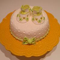 Christening cake topper