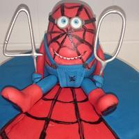 Minion spider man 40th