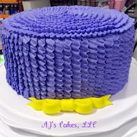 Ruffle and Bow Cake