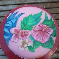 Tropical Painted Cake