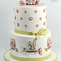 Owl Themed Celebration Cake