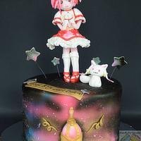 Puella Magi Madoka Magica anime Birthday cake