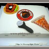 Buffalo Brothers Pizza & Wings Cake