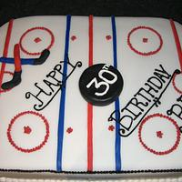 Hockey Rink Birthday Cake