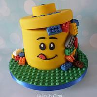 Lego Box Cake