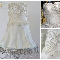 Diamonds & Pearls Wedding Dress