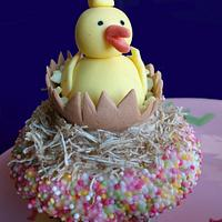 fully edible ducky cupcake