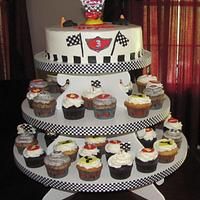 Cars Cupcake Tower