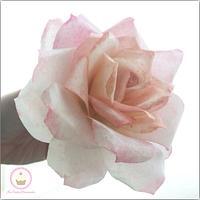 Wafer paper garden rose