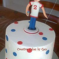 Ice cream themed birthday cake