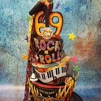 Rock Star's Birthday cake