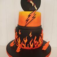 Super Hero Flash Birthday Cake