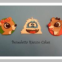 Rudolph and Friends Cupcake Toppers