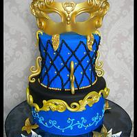 Midnight Masquerade Cake