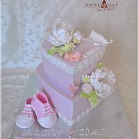 Christening cake for Laura