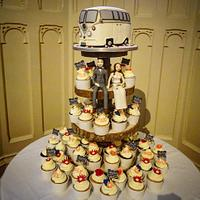 Camper van wedding cake