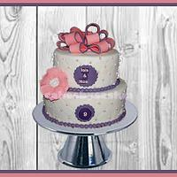 A birthday cake 4 a lovely twin