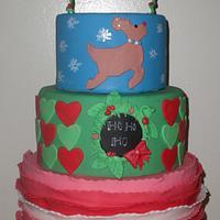 Reindeer Games Christmas Cake