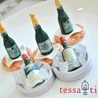 Wine Bottle cupcake toppers
