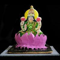 Goddess Lakshmi Sugar Cookie by Sumeru Creations