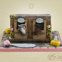 Horse Stable Cake