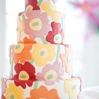 Marimekko Wedding Cake