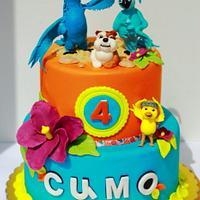 RIO movie cake by laskova