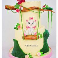 Aristocats cake japonais