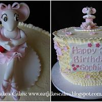Angelina Ballerina Cake by Jake's Cakes