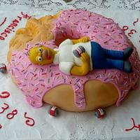Homer Simpsons cake by Sweets and CHocolat Creations  by Denise de Neira