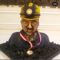 Miner Bust cake