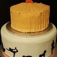 Yoga birthday cake