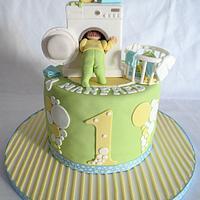 Washing Machine themed cake!