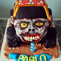 Zombie Monster Truck Cake