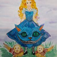 Alice and Friend. Alice in Wonderland 150 year collaboration