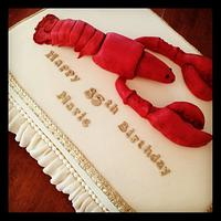 Modelling Chocolate Lobster Cake