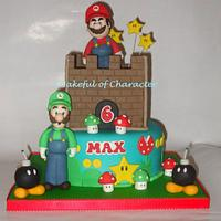 Super Mario Cake by acakefulofcharacter