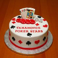 Poker stars cake