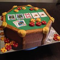 Washington Redskins poker table cake