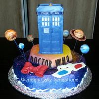 Dr. Who TARDIS Birthday Cake