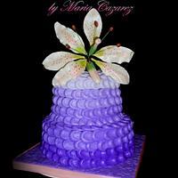My first Buttercream Petal Cake