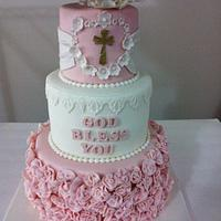 baptism cake!!!! by DeliciasGloria