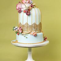 Vintage Birdcage by THE BRIGHTON CAKE COMPANY