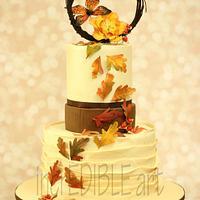 Autumn Wind -Wedding Cake