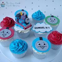 Thomas the Tank Engine Cupcakes