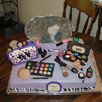 Makeup Cake for 18th Birthday