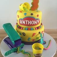 Play Doh themed 3rd Birthday Cake